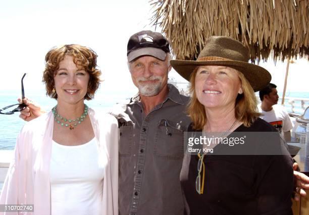 Kathleen Quinlan Ed Harris and Amy Madigan during Malibu Celebration of Film Press Conference at Malibu Pier in Malibu CA United States