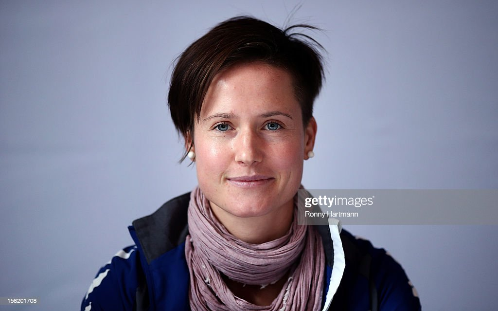 Kathleen Radtke of FF USV Jena attends the DFB Women's Indoor Trophy Draw Ceremony on December 11, 2012 in Magdeburg, Germany.