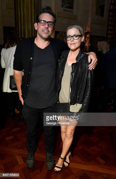 Kathleen Robertson and Chris Cowles attend The Hollywood Foreign Press Association and InStyle's annual celebrations of the 2017 Toronto...