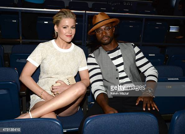 Kathleen Robertson and Taye Diggs attend the Turner Upfront 2015 at Madison Square Garden on May 13 2015 in New York City 25201_002_KM_0787JPG