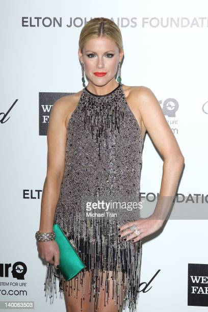 Kathleen Robertson arrives at the 20th Annual Elton John AIDS Foundation Academy Awards viewing party held across the street from the Pacific Design...