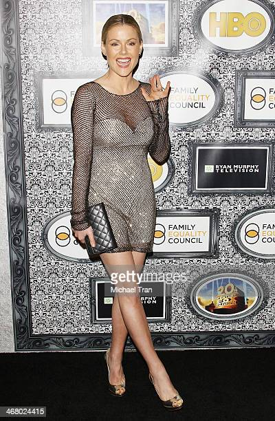 Kathleen Robertson arrives at the Family Equality Council's Los Angeles Awards dinner held at The Globe Theatre on February 8 2014 in Universal City...