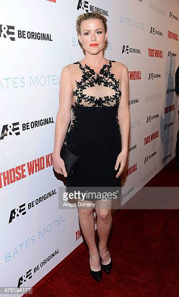 Kathleen Robertson attends AE's 'Bates Motel' and 'Those Who Kill' Premiere Party at Warwick on February 26 2014 in Hollywood California