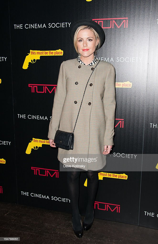 Kathleen Robertson attends The Weinstein Company With The Cinema Society And Tumi Host A Screening Of 'This Must Be the Place' at Tribeca Grand Hotel on October 25, 2012 in New York City.
