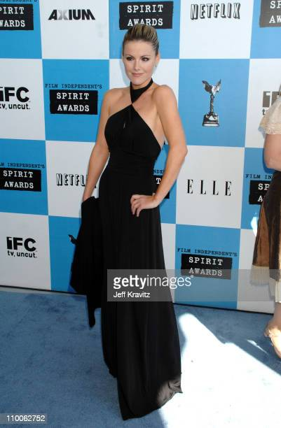 Kathleen Robertson during 2007 Film Independent's Spirit Awards Arrivals at Santa Monica Pier in Santa Monica California United States