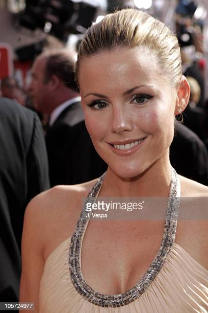 Kathleen Robertson during The 57th Annual Emmy Awards Arrivals at Shrine Auditorium in Los Angeles California United States