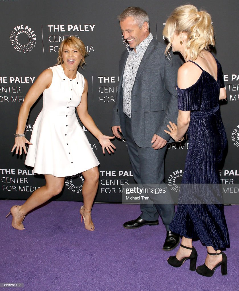 Kathleen Rose Perkins, Matt LeBlanc and Mircea Monroe arrive at the 2017 PaleyLive LA Summer Season - premiere screening and conversation for Showtime's 'Episodes' held at The Paley Center for Media on August 16, 2017 in Beverly Hills, California.