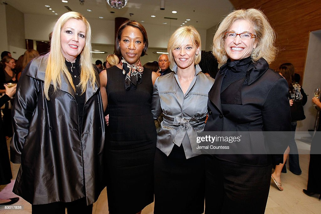 Kathleen Ruiz of Saks Fifth Avenue, Michelle Robinson of Harpers Bazaar, Avril Graham of Harpers Bazaar and Suzy Johnson of Saks Fifth Avenue at the Saks & Harper's Bazaar Celebration of Falls Most Elevated Collections on Two at Saks Fifth Avenue on September 25, 2008 in New York City.