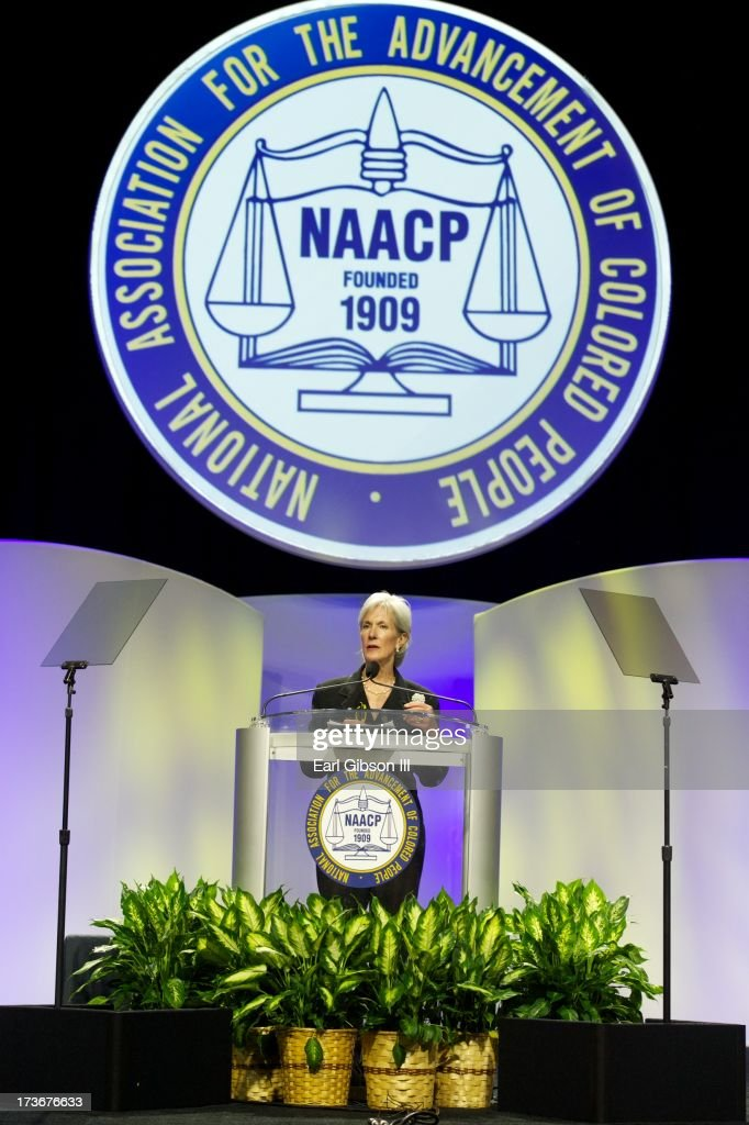 Kathleen Sebelius (Secretary, U.S. Department of Health and Human Services) speaks at the Plenary Sessions at the 'We Shall Not Be Moved' Symposium during the 104th NAACP Convention at Orange County Convention Center on July 16, 2013 in Orlando, Florida.