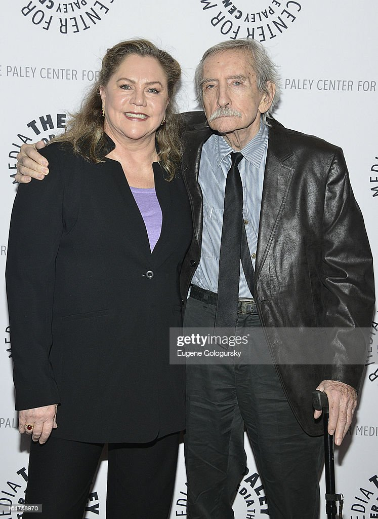 Kathleen Turner and Edward Albee attend 'The Stages Of Edward Albee' at Paley Center For Media on March 27, 2013 in New York City.