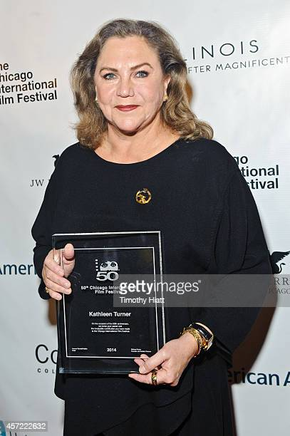 Kathleen Turner attends the 50th Anniversary of the Chicago International Film Festival at AMC River East Theater on October 14 2014 in Chicago...