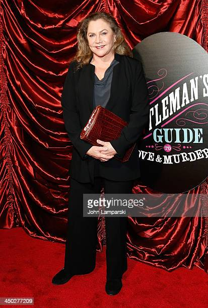 Kathleen Turner attends the Broadway opening night of 'A Gentleman's Guide to Love and Murder' at Walter Kerr Theatre on November 17 2013 in New York...