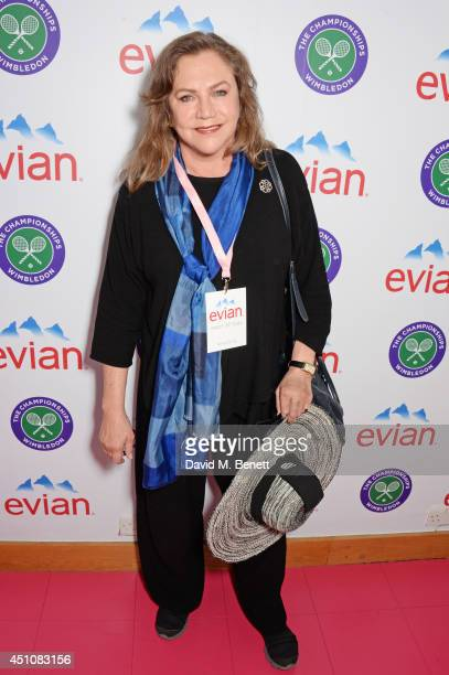 Kathleen Turner attends the evian Live Young suite on the opening day of Wimbledon at the All England Lawn Tennis and Croquet Club on June 23 2014 in...