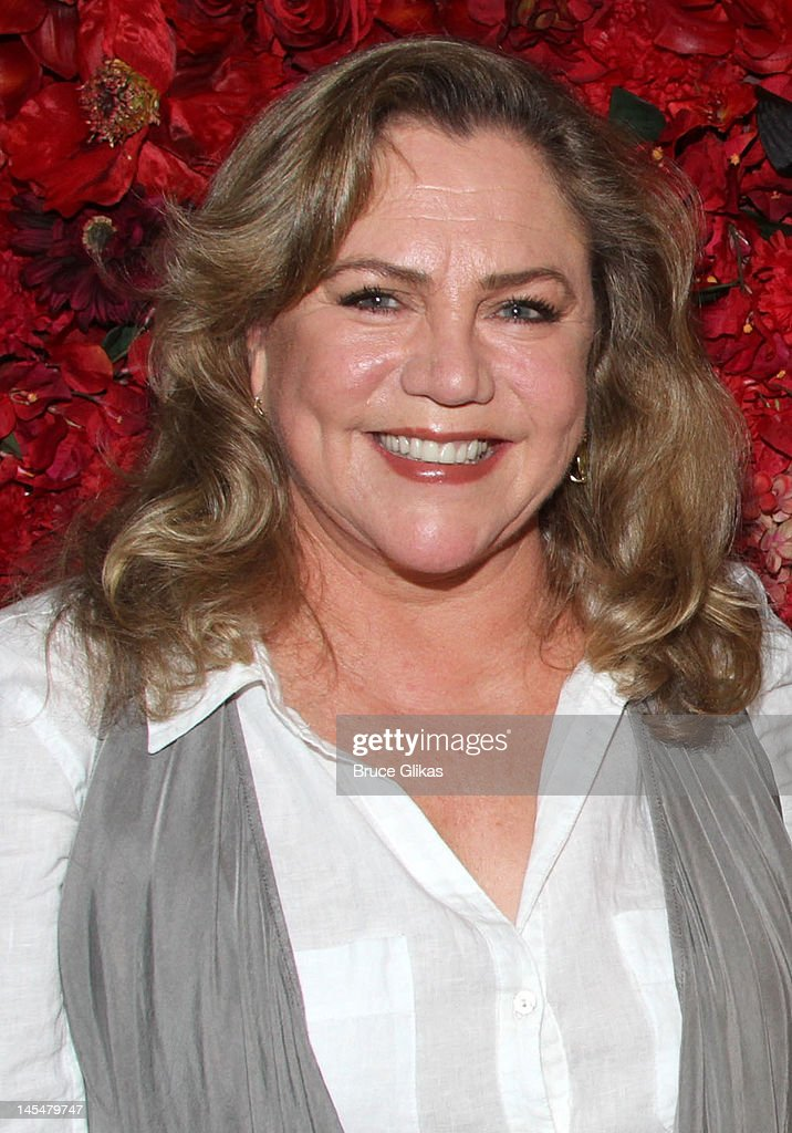 Kathleen Turner poses backstage at the hit play 'End of The Rainbow' on Broadway at The Belasco Theater on May 30, 2012 in New York City.