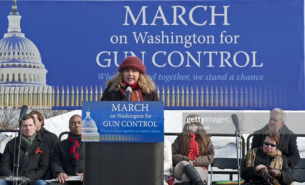 <a gi-track='captionPersonalityLinkClicked' href=/galleries/search?phrase=Kathleen+Turner&family=editorial&specificpeople=202649 ng-click='$event.stopPropagation()'>Kathleen Turner</a> speaks during the Million Mom March for Gun Control on January 26, 2013 in Washington, DC.