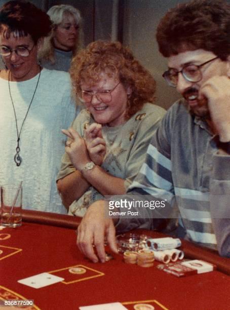 Kathleen wear of Westminster tries her luck at blackjack in Annie Oakley's Credit Denver Post