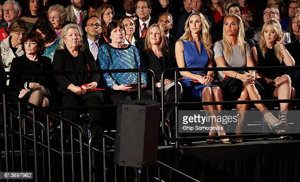 Kathleen Willey Juanita Broaddrick Kathy Shelton a guest Republican presidential nominee Donald Trump's daughtersinlaw Lara Trump and Vanessa Trump...