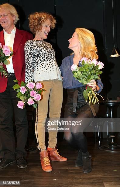 Kathrin Ackermann and her daughter Dr Maria Furtwaengler during the 'Gluecklich die Gluecklichen' premiere at Komoedie im Bayerischen Hof on October...