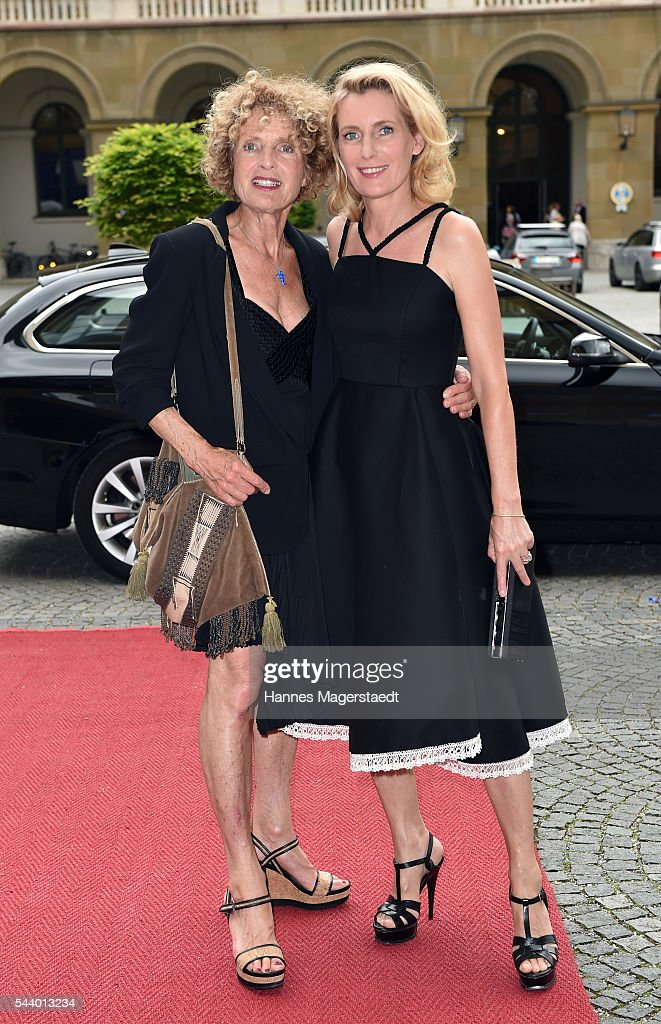 Kathrin Ackermann and her daughter <a gi-track='captionPersonalityLinkClicked' href=/galleries/search?phrase=Maria+Furtwaengler&family=editorial&specificpeople=2135673 ng-click='$event.stopPropagation()'>Maria Furtwaengler</a> attend the Bernhard Wicki Award (Friedenspreis des Deutschen Films) during the Munich Film Festival 2016 at Cuvilles Theatre on June 30, 2016 in Munich, Germany.