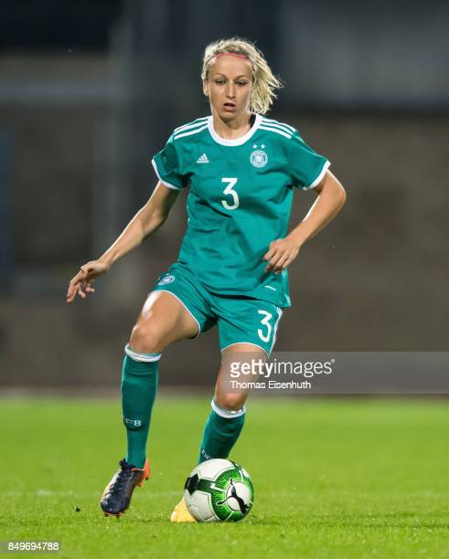 Kathrin Hendrich of Germany in action during the 2019 FIFA Women's World Championship Qualifier match between Czech Republic Women's and Germany...