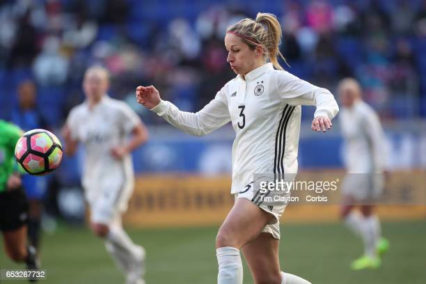 Kathrin Hendrich of Germany in action during the France Vs Germany SheBelieves Cup International match at Red Bull Arena on March 4 2017 in Harrison...