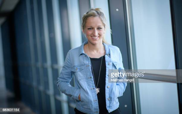 Kathrin Hendrich of Germany poses for a portrait during the DFB Ladies Marketing Day at Commerzbank Arena on April 3 2017 in Frankfurt am Main Germany