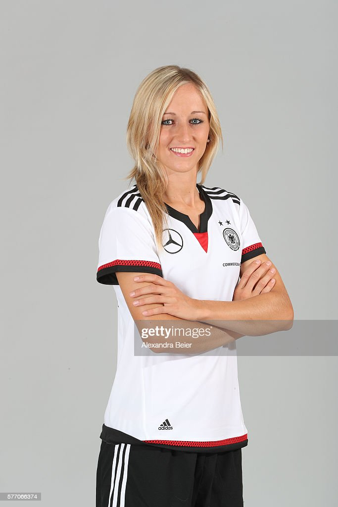 Kathrin Hendrich of the German women's national football team poses during the team presentation on June 21, 2016 in Grassau, Germany.