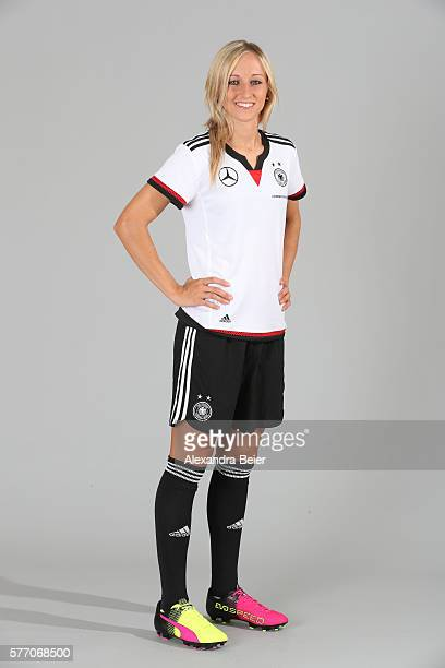 Kathrin Hendrich of the German women's national football team poses during the team presentation on June 21 2016 in Grassau Germany