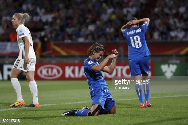 Kathrin Julia Hendrich of Germany women Cristiana Girelli of Italy Women Daniela Sabatino of Italy Women during the UEFA WEURO 2017 Group B group...