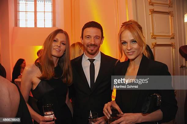 Kathrin Kraus Oliver Berben and Mirjam Weichselbraun attend the Romy 2014 Academy Awards at Hofburg Vienna on April 24 2014 in Vienna Austria