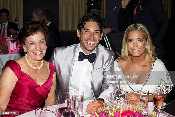 Kathrin Mosimann Sylvie Meis and boyfriend Samuel Deutsch attend the Pink Ribbon Award 2014 on October 1 2014 in Zurich Switzerland