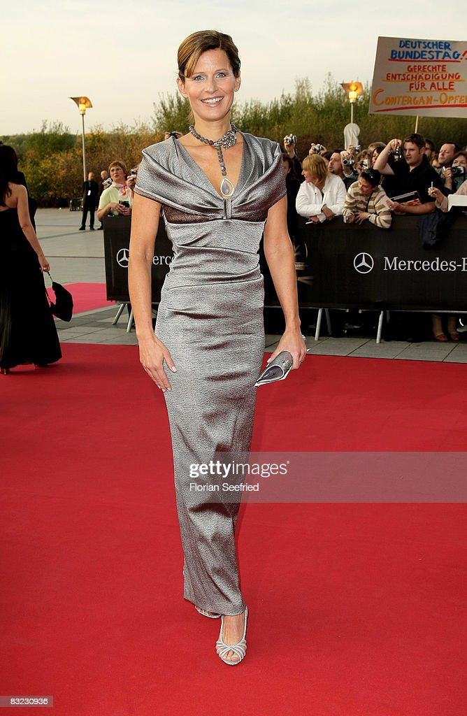 Kathrin Mueller-Hohenstein arrives for the German TV Award 2008 at the Coloneum on October 11, 2008 in Cologne, Germany.