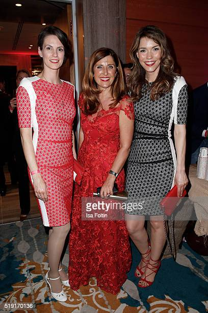 Kathrin Wrobel Sedef Ayguen and Annett Moeller attend the Victress Awards Gala on 2016 in Berlin Germany