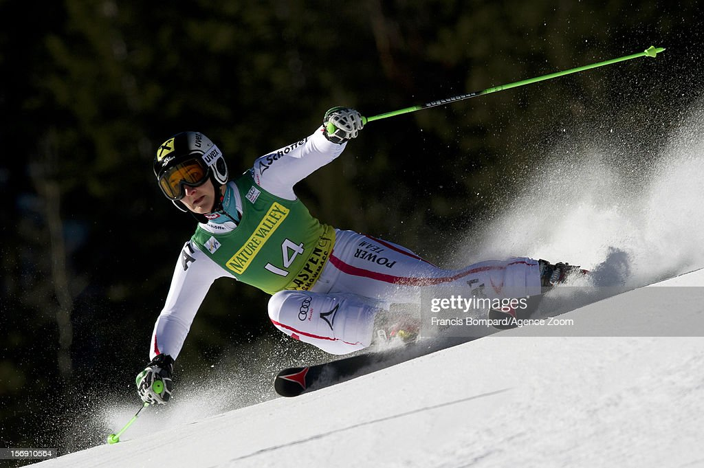 Kathrin Zettel of Austria competes during the Audi FIS Alpine Ski World Cup Women's Giant Slalom on November 24, 2012 in Aspen, Colorado.