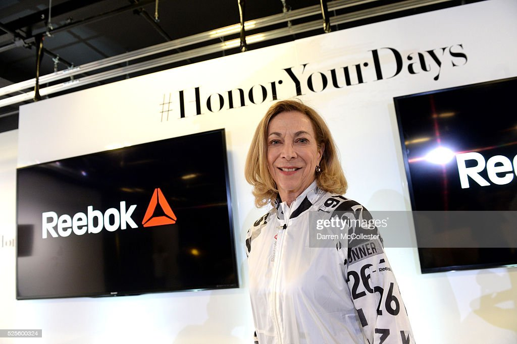 Kathrine Switzer attends REEBOK #HonorYourDays Luncheon at Reebok Headquarters on April 28, 2016 in Canton, Massachusetts.