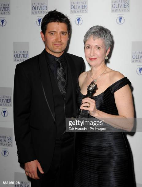 Kathryn Bennett of The Royal Ballet of Flanders wins the Outstanding Achievement in Dance Award presented by Tom Chambers during the Laurence Olivier...