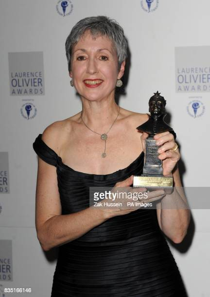 Kathryn Bennett of The Royal Ballet of Flanders wins the Outstanding Achievement in Dance Award during the Laurence Olivier Awards at the Grosvenor...