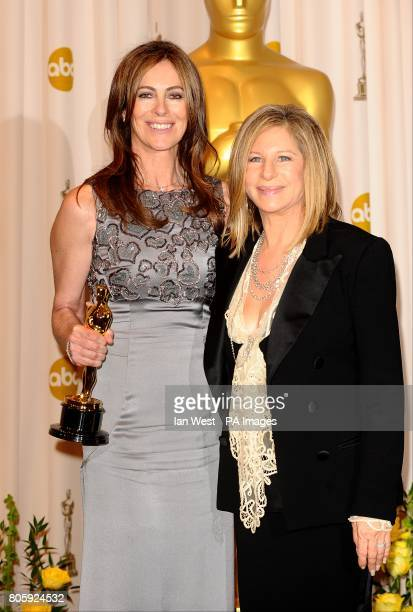 Kathryn Bigelow and Barbra Streisand with the award for Achievement in Directing recieved for The Hurt Locker at the 82nd Academy Awards at the 82nd...