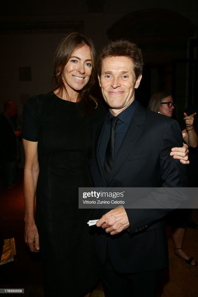 Kathryn Bigelow and Willem Dafoe attend the Miu Miu Women's Tales dinner hosted by Miuccia Prada at the Ca' Corner on August 29, 2013 in Venice, Italy.