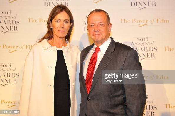 Kathryn Bigelow left and Stephen Hadley attend the 2013 America Abroad Media Awards Dinner at Andrew W Mellon Auditorium on October 28 2013 in...