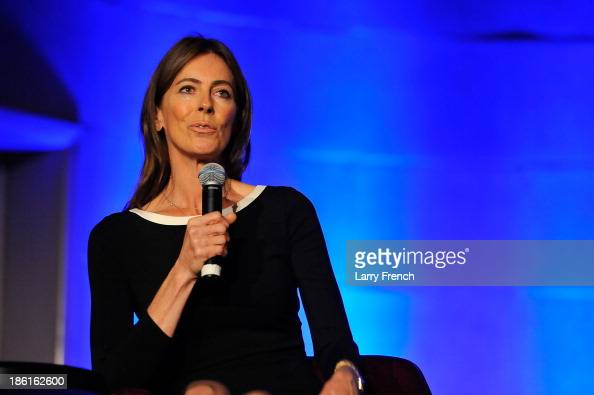 Kathryn Bigelow speaks at the 2013 America Abroad Media Awards Dinner at Andrew W Mellon Auditorium on October 28 2013 in Washington DC