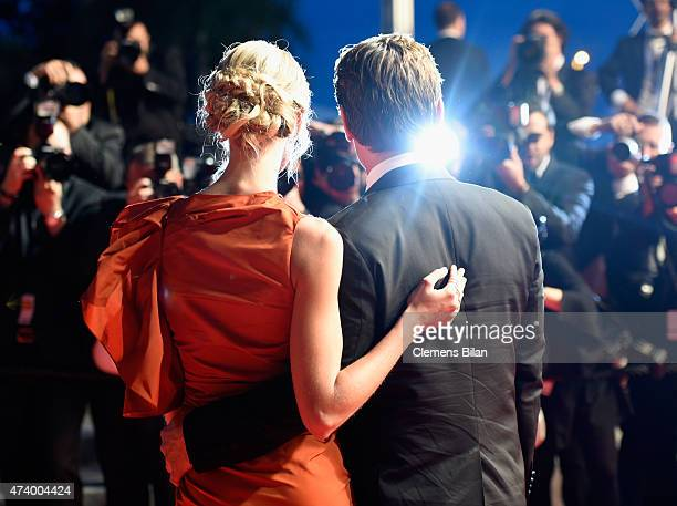 Kathryn Boyd and actor Josh Brolin leave the Premiere of 'Sicario' during the 68th annual Cannes Film Festival on May 19 2015 in Cannes France