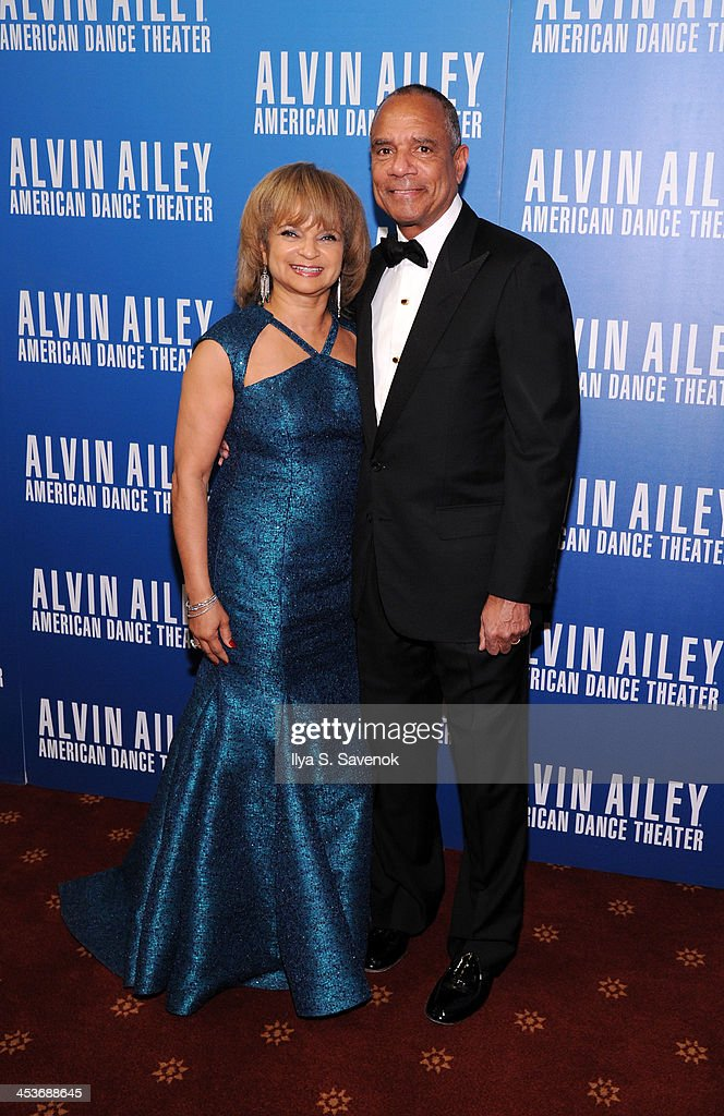 Kathryn Chenault (L) and American Express President Kenneth Chenault attend the 2013 Alvin Ailey American Dance Theater's opening night benefit gala at New York City Center on December 4, 2013 in New York City.