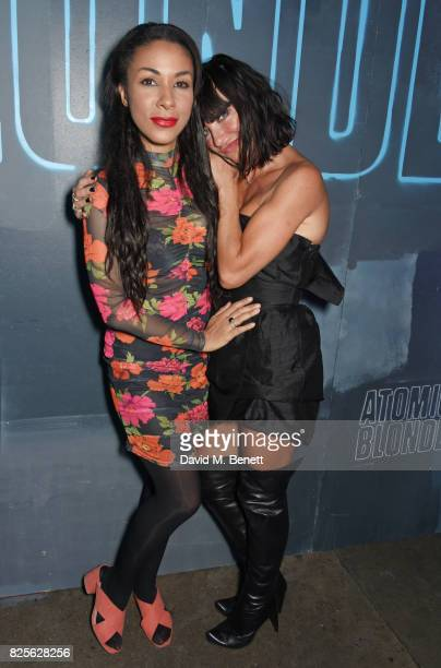 Kathryn Drysdale and Collette Cooper attend a special screening of 'Atomic Blonde' at The Village Underground on August 2 2017 in London England
