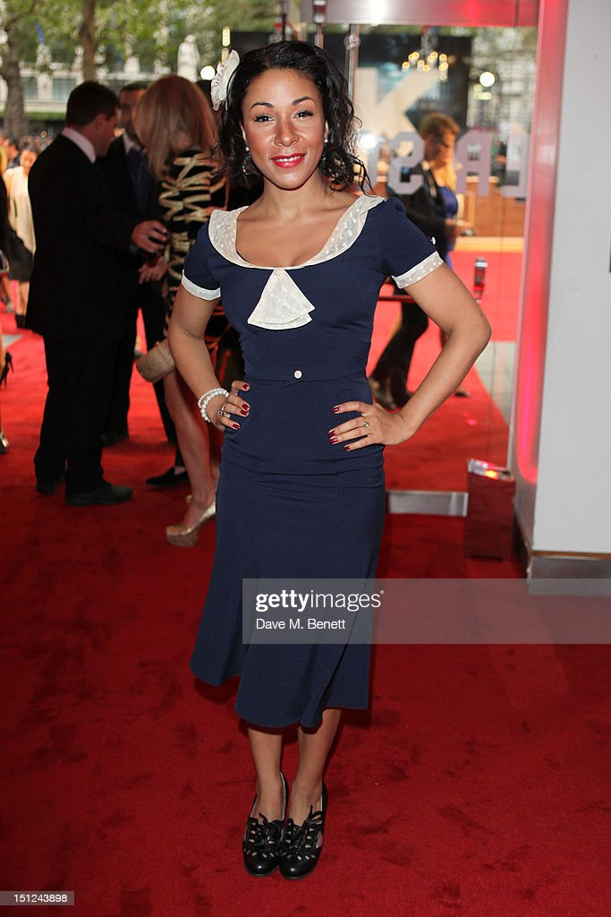 Kathryn Drysdale arrives at the World premiere of 'Anna Karenina' at The Odeon Leicester Square in London, England.