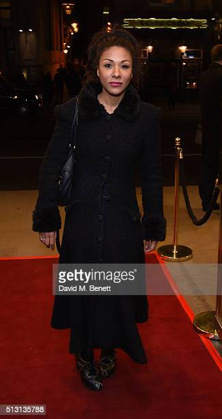 Kathryn Drysdale arrives for Gala Performance of 'The Maids' at the Trafalgar Studios on February 29 2016 in London England