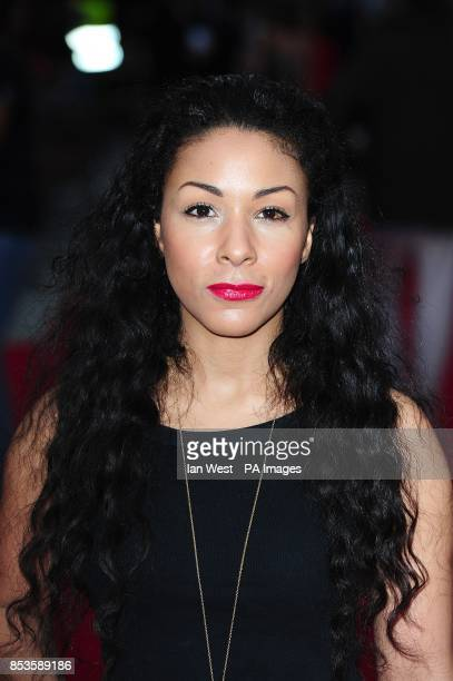 Kathryn Drysdale arriving at the The Hooligan Factory Premiere at The West End Odeon Leicester Square London