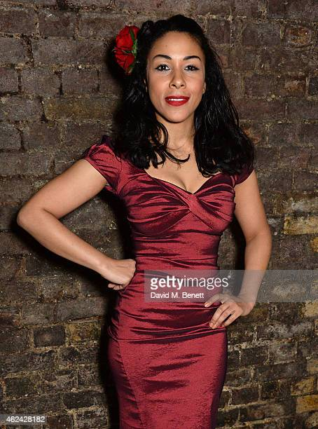 Kathryn Drysdale attends an after party following the Gala Performance of 'The Ruling Class' at The Bankside Vaults on January 28 2015 in London...