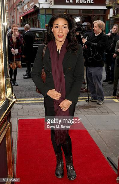 Kathryn Drysdale attends the Gala Night performance of 'Doctor Faustus' at The Duke Of York's Theatre on April 25 2016 in London England