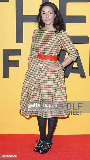 Kathryn Drysdale attends the premiere of 'The Wolf Of Wall Street' at Odeon Leicester Square